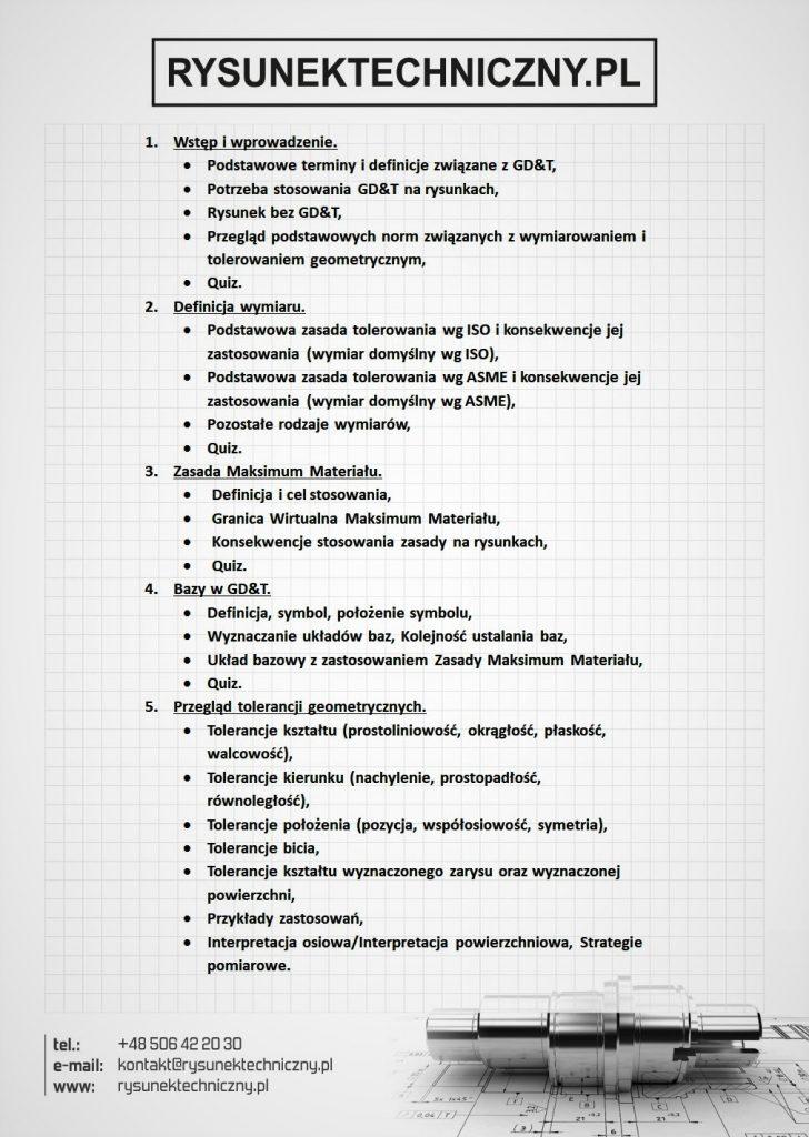 plan szkolenia GD&T
